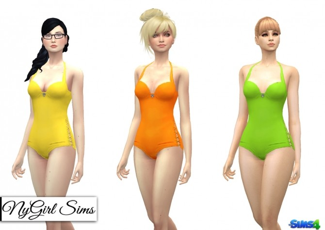 Side Tie Swimsuit with Jewel at NyGirl Sims image 1283 670x474 Sims 4 Updates