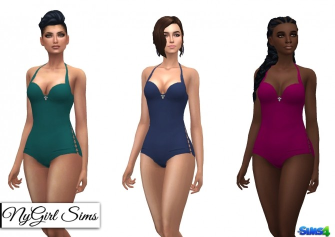Side Tie Swimsuit with Jewel at NyGirl Sims image 1293 670x474 Sims 4 Updates