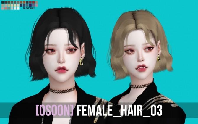 Sims 4 Female Hair 03 at Osoon