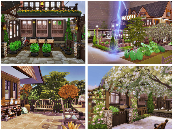 Winnie the Pooh house by Danuta720 at TSR image 1315 Sims 4 Updates