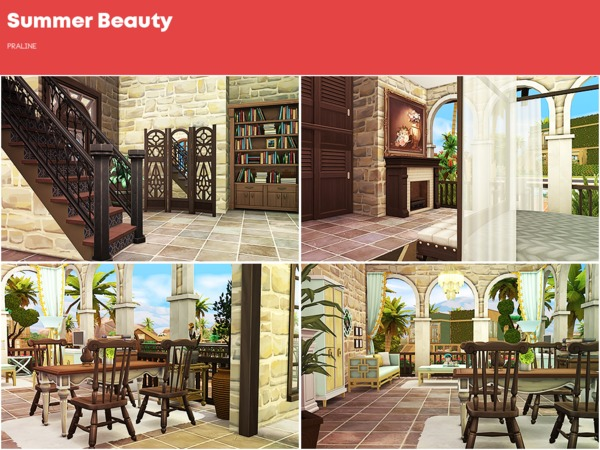 Summer Beauty house by Pralinesims at TSR image 1316 Sims 4 Updates