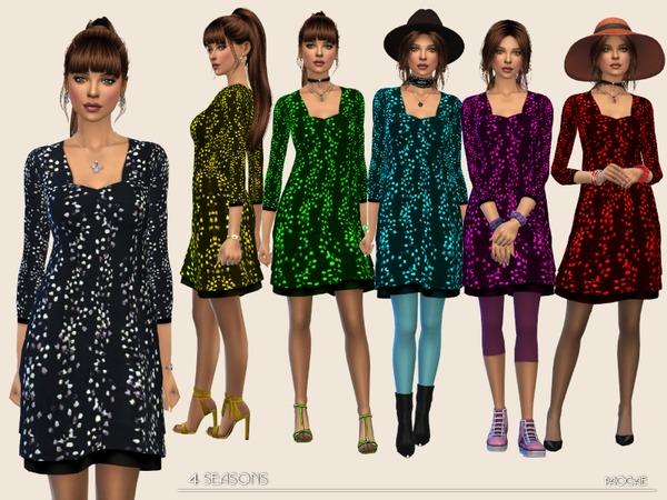 Sims 4 4Seasons dress by Paogae at TSR