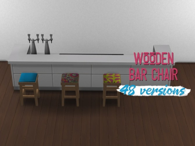 Sims 4 Wooden bar chair at Midnightskysims