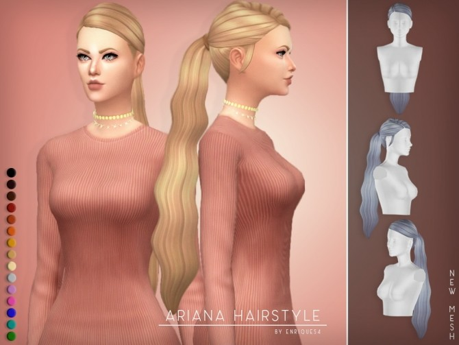 Sims 4 Ariana Hairstyle F at Enriques4