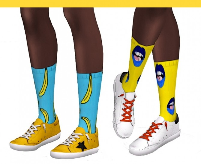 Ridgeport socks recolor at Miss Ruby Bird image 1362 670x546 Sims 4 Updates