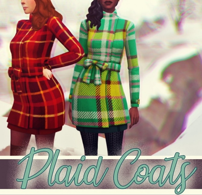 Sims 4 Plaid coats at Miss Ruby Bird