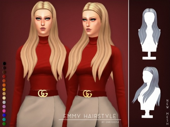 Emmy Hairstyle at Enriques4 image 1408 670x503 Sims 4 Updates
