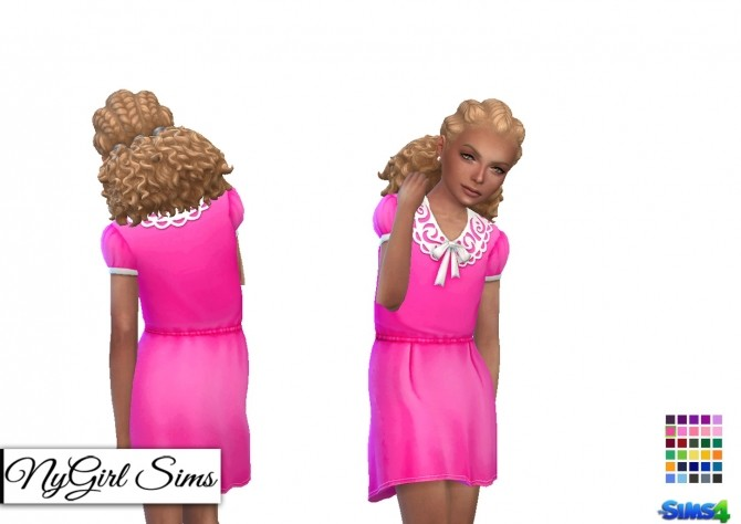 Collar and Bow Dress for Girls at NyGirl Sims image 1431 670x474 Sims 4 Updates