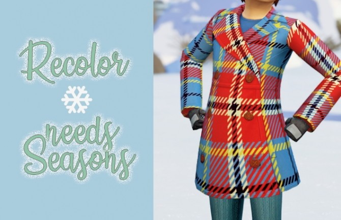 Plaid coats for kids at Miss Ruby Bird image 1432 670x433 Sims 4 Updates