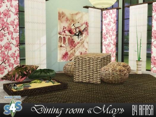 Sims 4 May dining room at Aifirsa