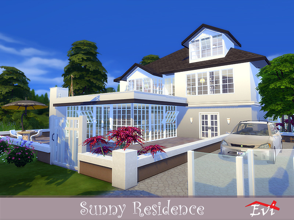 Sims 4 Sunny Residence by evi at TSR