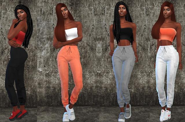 Sims 4 Summer Orange Collection at Teenageeaglerunner