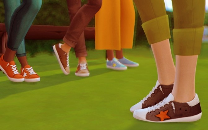 Starlord's Golden Goose Sneakers Recolor at Miss Ruby Bird image 1472 670x420 Sims 4 Updates