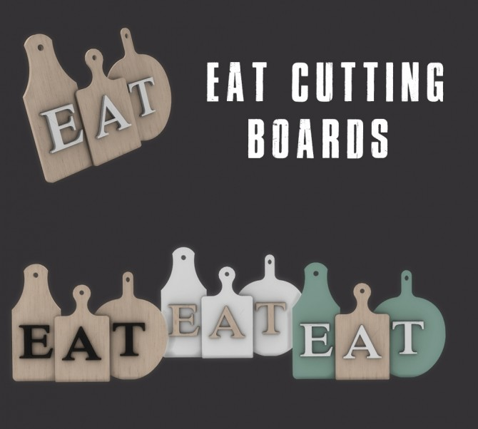 Sims 4 Eat cutting boards at Leo Sims