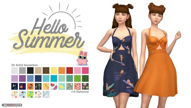 Hello Summer Sundress at SimLaughLove image 1483 670x380 Sims 4 Updates