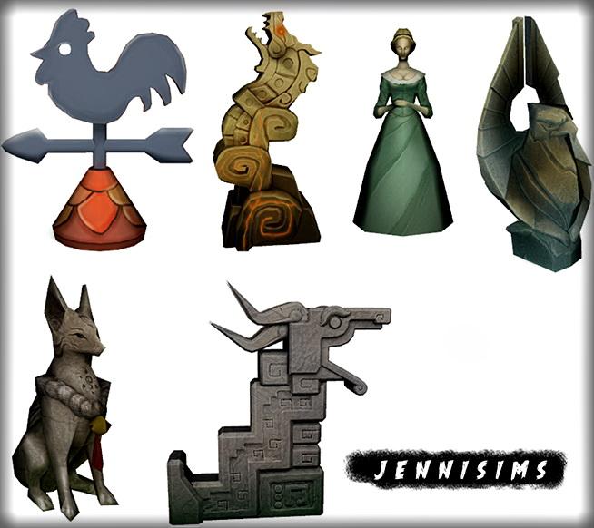 Sims 4 Statues Dragon 6 Items at Jenni Sims