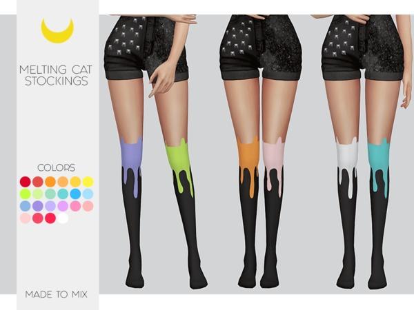 Sims 4 Stockings Melting Cat Made to Mix by Kalewa a at TSR