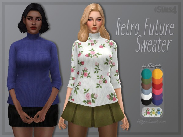 Sims 4 Retro Future Sweater by Trillyke at TSR