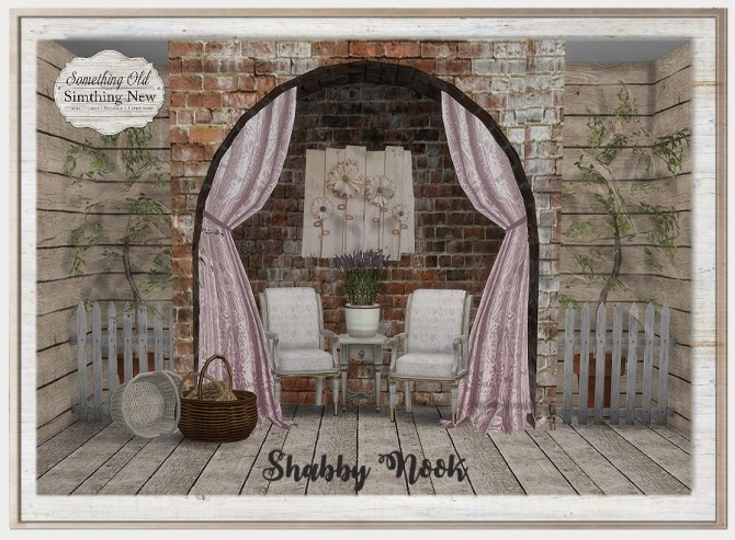 Sims 4 Shabby Nook set at Simthing New