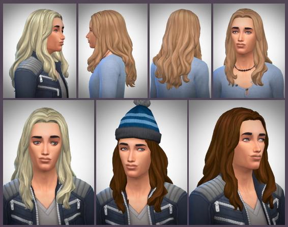 Sims 4 Daniel's Long Curly Hair at Birksches Sims Blog
