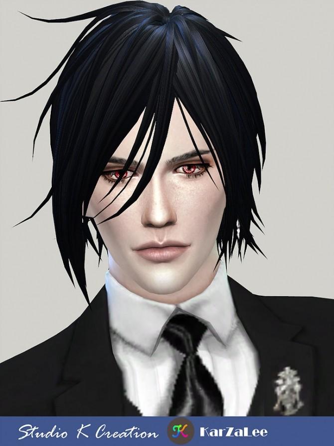 Sims 4 Animate hair 97 Sebastian at Studio K Creation