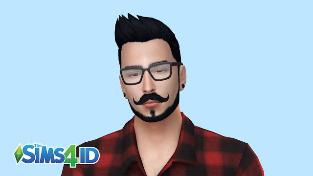 Sims 4 Van Dyke Style V3 beard at The Sims 4 ID