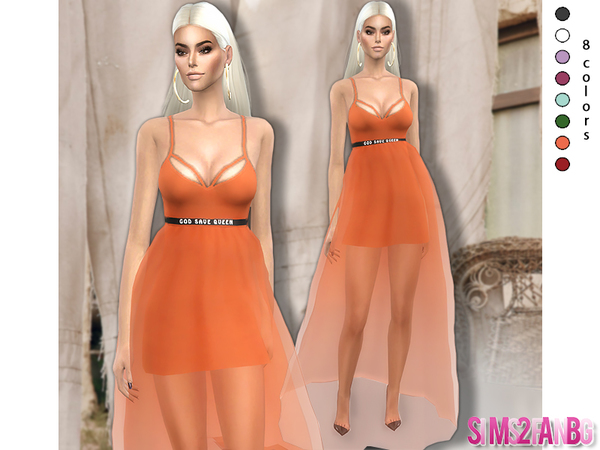 Sims 4 354 Transparent Dress The Queen by sims2fanbg at TSR