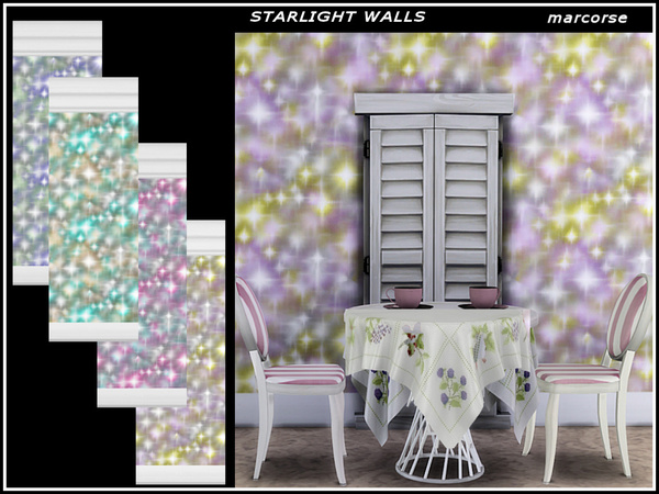 Starlight Walls by marcorse at TSR image 1614 Sims 4 Updates