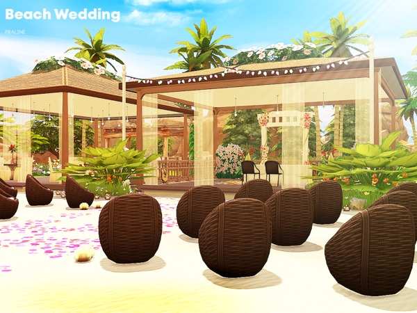Beach Wedding venue by Pralinesims at TSR image 162 Sims 4 Updates