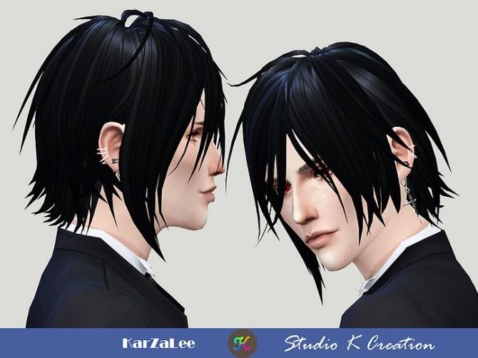 Animate hair 97 Sebastian at Studio K Creation image 16210 670x502 Sims 4 Updates