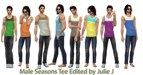 Sims 4 Male Seasons Tee Edited at Julietoon – Julie J