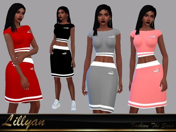 Selma skirt and top sport set by LYLLYAN at TSR image 1627 Sims 4 Updates