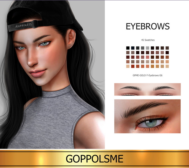 GPME GOLD F Eyebrows G6 at GOPPOLS Me image 1644 Sims 4 Updates