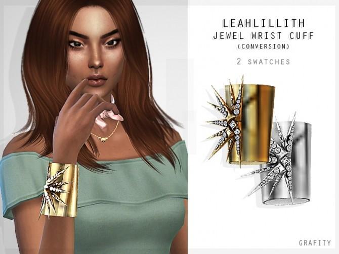 LEAHLILLITH JEWEL WRIST CUFF at Grafity cc image 1652 670x503 Sims 4 Updates
