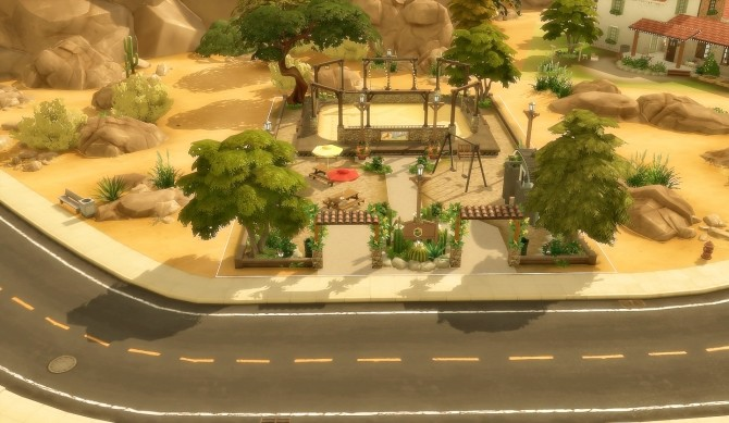 Suburban Park Oasis Springs at Via Sims image 1655 670x389 Sims 4 Updates