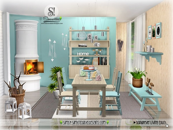 Sims 4 ScandiFever Living touch by SIMcredible at TSR