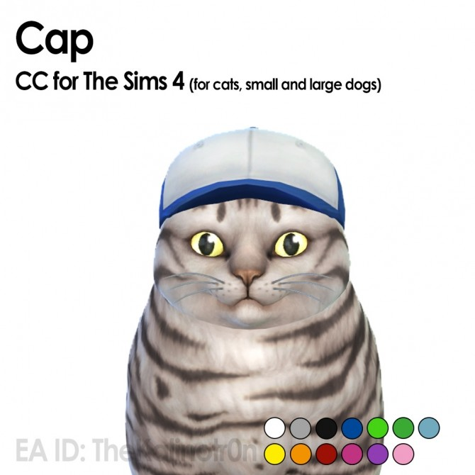 Sims 4 Separate caps, hats, glasses and scarfs at Kalino