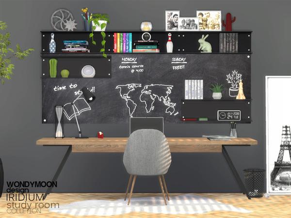 Iridium Study Room by wondymoon at TSR image 1696 Sims 4 Updates