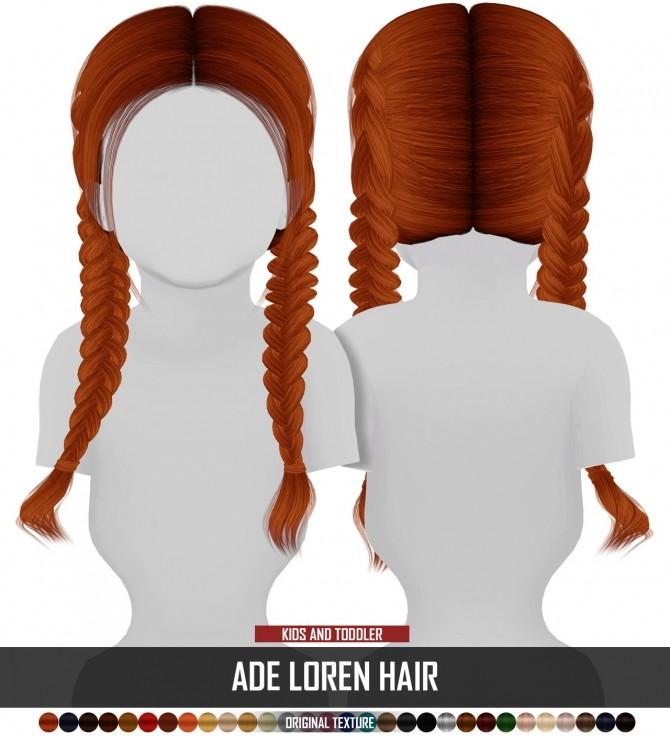 Sims 4 ADE LOREN HAIR KIDS AND TODDLER VERSION at REDHEADSIMS