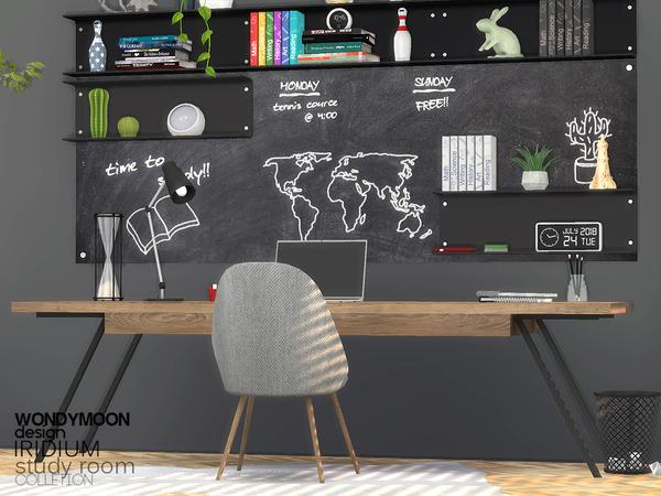 Iridium Study Room by wondymoon at TSR image 1705 Sims 4 Updates
