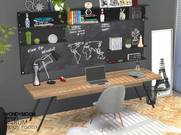 Iridium Study Room by wondymoon at TSR image 17112 Sims 4 Updates