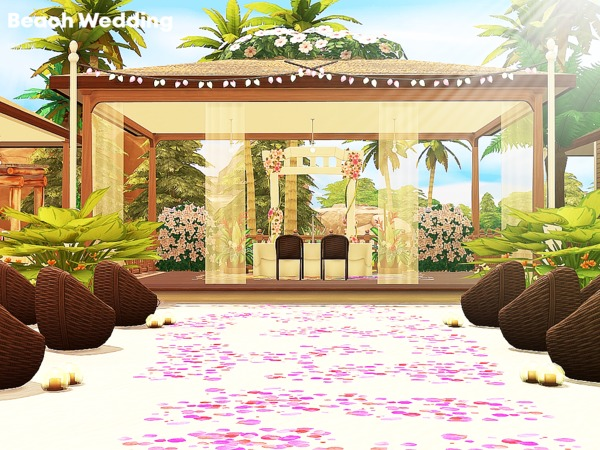 Beach Wedding venue by Pralinesims at TSR image 172 Sims 4 Updates