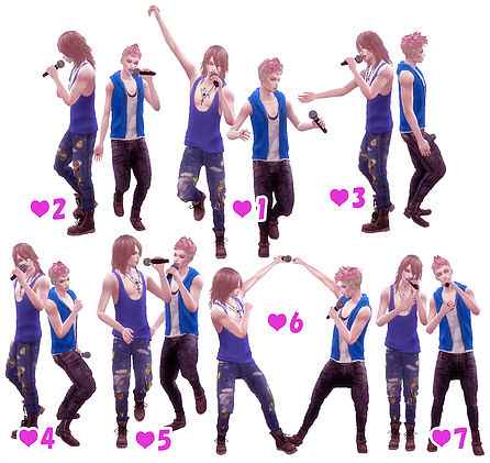 microphone pose 02 at aluckyday » sims 4 updates