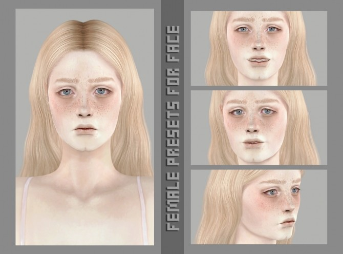Sims 4 Female presets for face at Magic bot