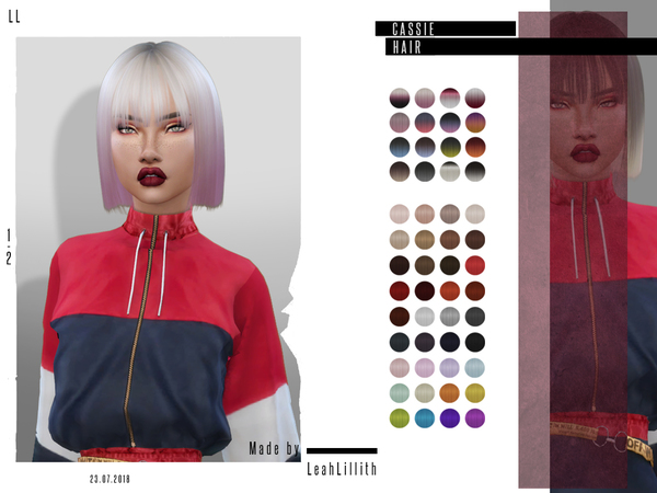 Cassie Hair by Leah Lillith at TSR image 1735 Sims 4 Updates