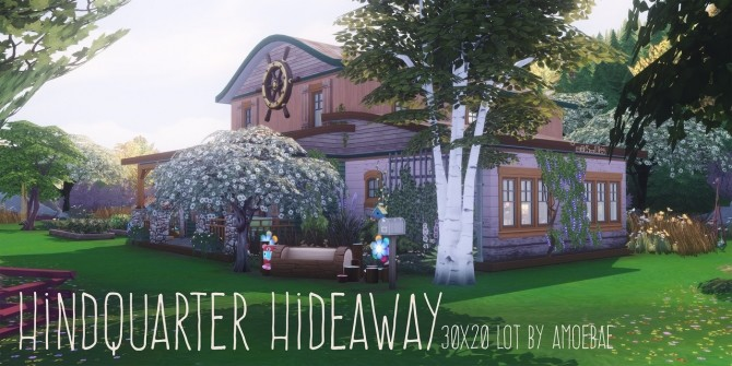 Sims 4 HINDQUARTER HIDEAWAY cottage at Picture Amoebae