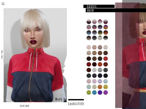 Cassie Hair by Leah Lillith at TSR image 1746 Sims 4 Updates