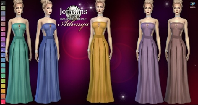 Athmya dress at Jomsims Creations image 1772 670x355 Sims 4 Updates