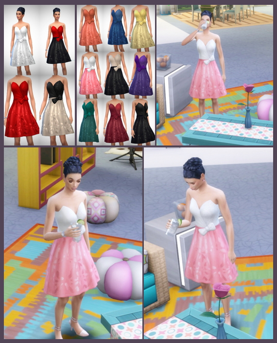 Sims 4 Winter Party Dress at Birksches Sims Blog