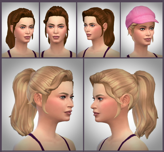 Sims 4 Emily's Ponytail at Birksches Sims Blog